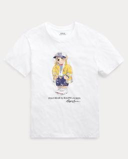 Biały t-shirt z misiem Polo