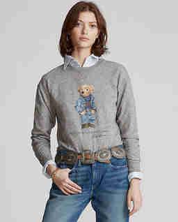 Szara bluza z misiem