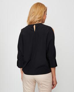Czarna bluzka jedwabna