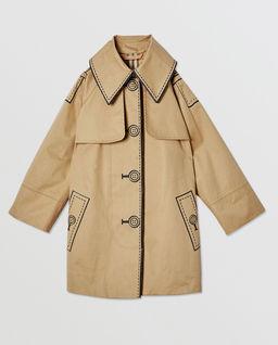 Beżowy płaszcz 6-12 lat