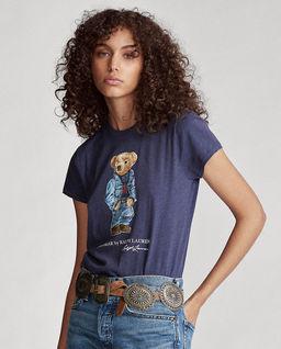 Granatowy t-shirt z misiem