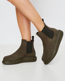 Skórzane buty za kostkę