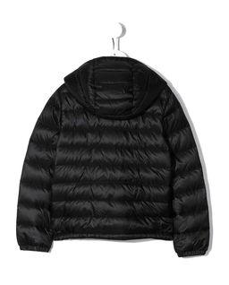 Czarna kurtka puchowa z kapturem 8-14 lat