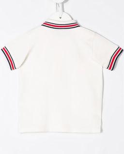 Biała koszulka polo 0-2 lat