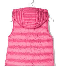 Różowa kamizelka z kapturem 6-10 lat