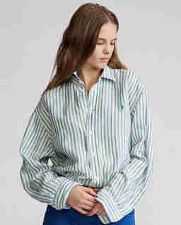 Oversizová pruhovaná košile