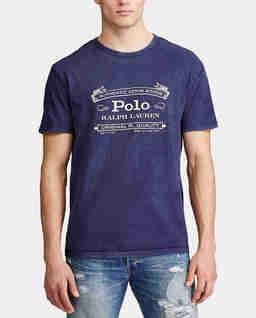 Granatowa koszulka Slim fit
