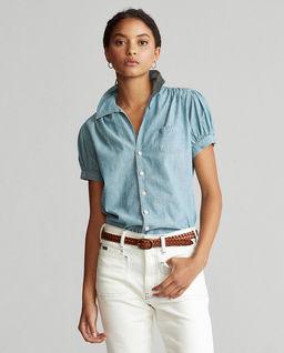 Niebieska koszula z krótkim rękawem