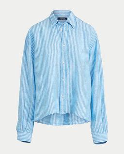 Lniana koszula w paski