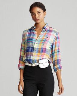 Lniana koszula w kratę