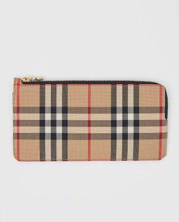 Skórzany portfel w kratkę