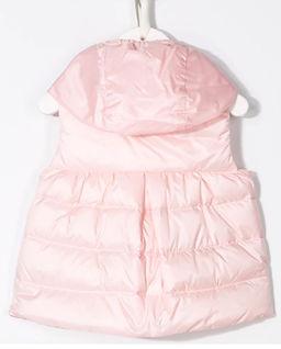 Różowa kamizelka z kapturem  0-3 lat