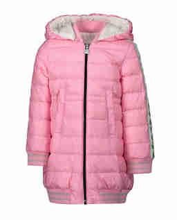 Różowy pikowany płaszcz 0-3 lat