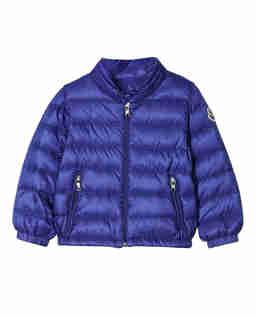 Niebieska pikowana kurtka 0-3 lat