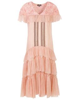Sukienka jedwabna Catelyn blush