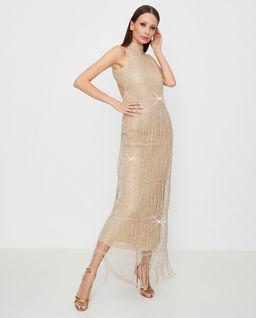 Złota sukienka maxi