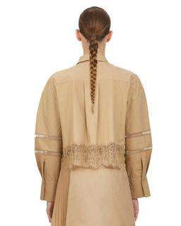 Beżowa koszula z koronką
