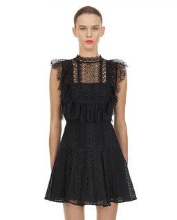 Czarna sukienka mini z koronką