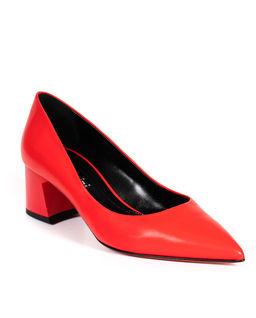 Czerwone buty na obcasie