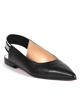 Skórzane baleriny open heel