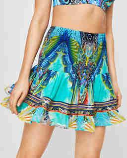 Spódnica mini z kryształami