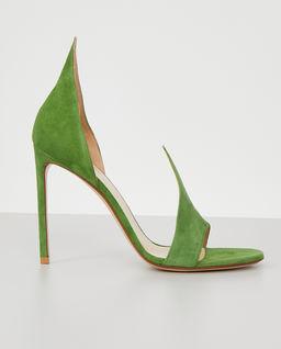 Zielone zamszowe szpilki
