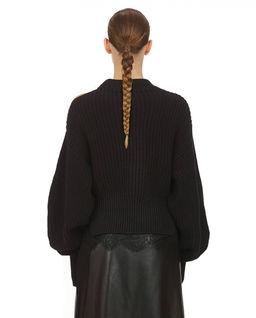 Czarny sweter z koronką