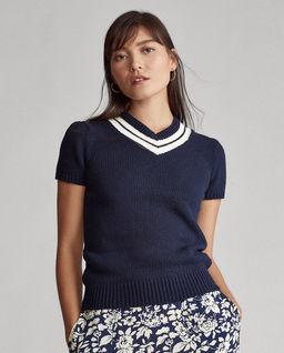 Granatowy sweter z domieszką kaszmiru
