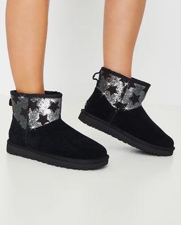Czarne śniegowce Sequin Stars