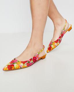Baleriny w kolorowe kwiaty