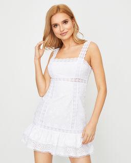 Biała sukienka na ramiączkach