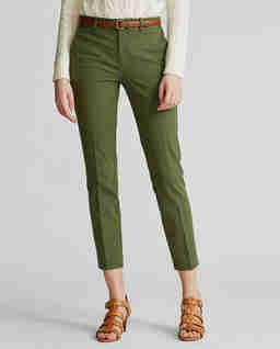 Zielone spodnie damskie