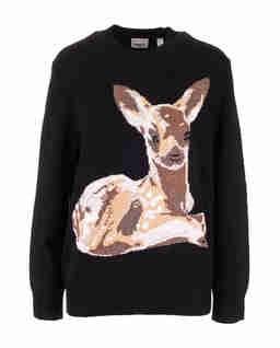 Wełniany sweter z jelonkiem