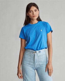 Niebieskie t-shirt damski