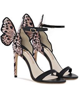 Dwukolorowe sandały na szpilce Chiara