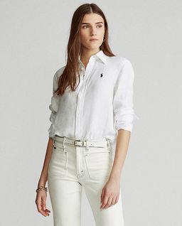 Biała koszula z ozdobą z koralików