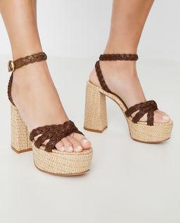 Skórzane sandały na platformie Kea