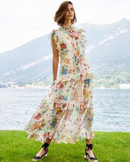 EDYCJA LIMITOWANA - Sukienka w kwiaty z koronką Missandei