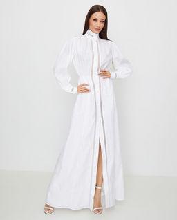 Biała sukienka z lnu