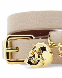 Bransoletka ze złotą czaszką