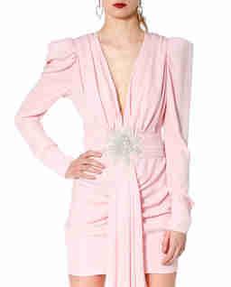 Sukienka z aplikacją z koralików Krystle