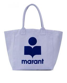 Niebieska torba z logo