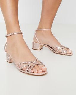 Sandały z kryształami Swarovskiego Dania