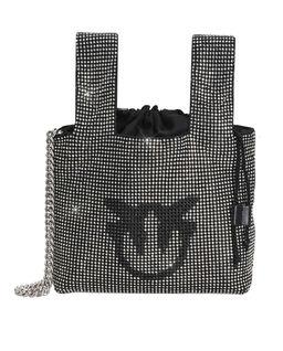 Mini torebka z kryształami Gray