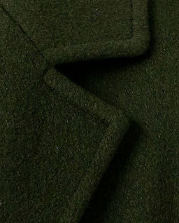 Ciemnozielony płaszcz z kaszmiru