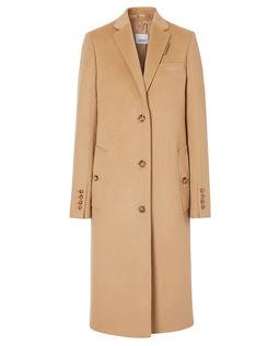Beżowy płaszcz jednorzędowy