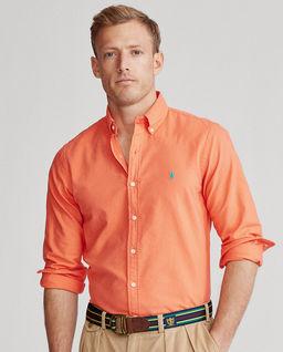 Pomarańczowa koszula Slim Fit Oxford