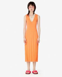 Oranžové midi šaty