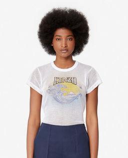 Biała koszulka z siatki