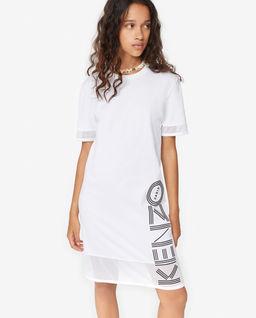 Bílé šaty s logem